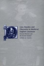 Cover of: Lies, slander, and obscenity in medieval English literature