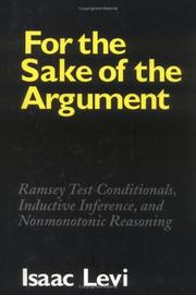 Cover of: For the sake of the argument