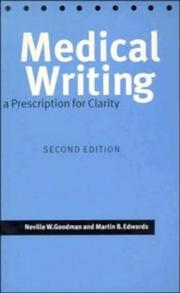 Cover of: Medical writing