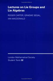 Cover of: Lectures on Lie groups and Lie algebras