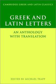 Cover of: Greek and Latin Letters | Michael Trapp