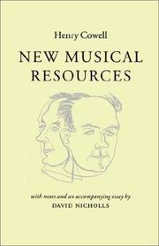 Cover of: New musical resources | Henry Cowell