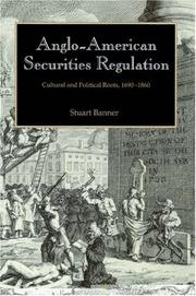 Cover of: Anglo-American Securities Regulation | Stuart Banner