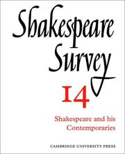 Cover of: Shakespeare Survey | Allardyce Nicoll