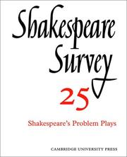 Cover of: Shakespeare Survey | Muir, Kenneth.