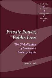 Cover of: Private Power, Public Law | Susan K. Sell