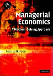 Cover of: Managerial Economics | Nick Wilkinson