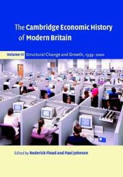 Cover of: The Cambridge Economic History of Modern Britain, Volume 3 |