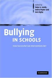 Cover of: Bullying in Schools |
