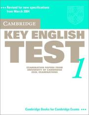 Cover of: Cambridge Key English Test 1 Student's Book