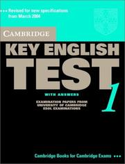 Cover of: Cambridge Key English Test 1 Student's Book with Answers