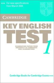 Cover of: Cambridge Key English Test 1 Audio Cassette