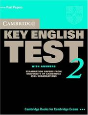 Cover of: Cambridge Key English Test 2 Student's Book with Answers
