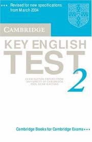 Cover of: Cambridge Key English Test 2 Audio Cassette