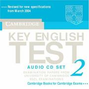 Cover of: Cambridge Key English Test 2 Audio CD Set