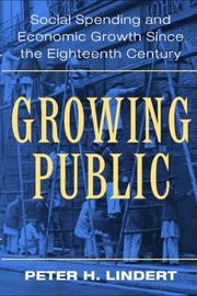 Cover of: Growing Public | Peter H. Lindert