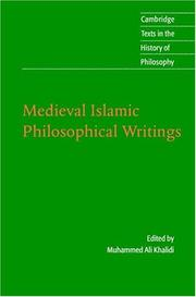 Cover of: Medieval Islamic Philosophical Writings (Cambridge Texts in the History of Philosophy) | Muhammad Ali Khalidi