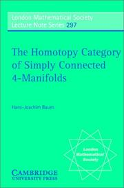 Cover of: The homotopy category of simply connected 4-manifolds
