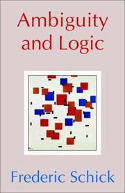 Cover of: Ambiguity and Logic