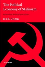 Cover of: The Political Economy of Stalinism