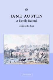 Cover of: Jane Austen, a family record