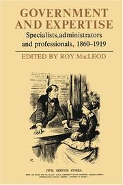 Cover of: Government and Expertise | Roy MacLeod