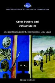 Cover of: Great Powers and Outlaw States | Gerry Simpson