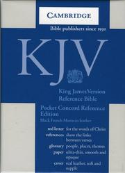 KJV Pocket Concord Reference Black French Morocco R103