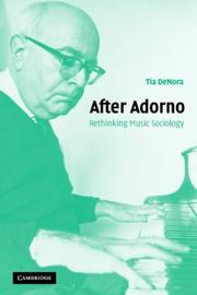 Cover of: After Adorno