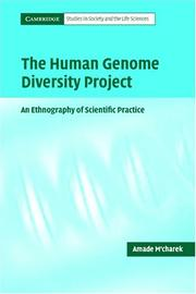 Cover of: The Human Genome Diversity Project | Amade M