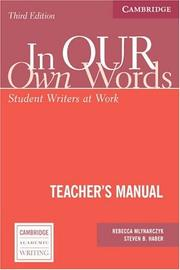 Cover of: In our own Words Teacher