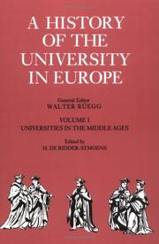 Cover of: A History of the University in Europe | Hilde de Ridder-Symoens