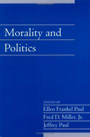 Cover of: Morality and politics