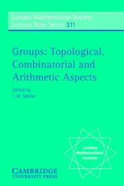 Cover of: Groups | T. W. MГјller