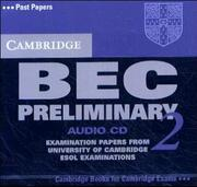 Cover of: Cambridge BEC Preliminary 2 Audio CD