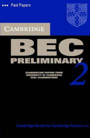 Cover of: Cambridge BEC Preliminary 2 Cassette