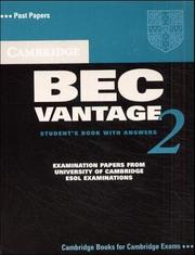 Cover of: Cambridge BEC Vantage 2 Student's Book with Answers