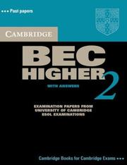 Cover of: Cambridge BEC Higher 2 Student's Book with Answers