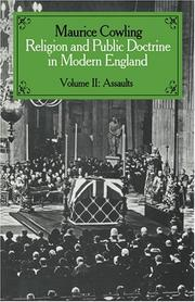 Religion and Public Doctrine in Modern England (Cambridge Studies in the History and Theory of Politics) by Maurice Cowling