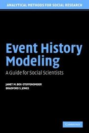 Cover of: Event history modeling by