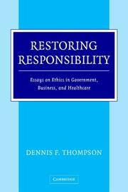 Cover of: Restoring Responsibility