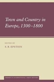 Cover of: Town and Country in Europe, 13001800 (Themes in International Urban History)