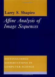 Cover of: Affine analysis of image sequences
