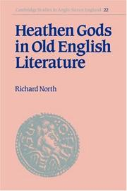 Cover of: Heathen gods in Old English literature