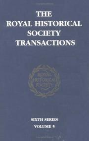 Cover of: Transactions of the Royal Historical Society | Royal Historical Society