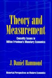 Cover of: Theory and measurement