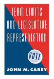 Cover of: Term limits and legislative representation