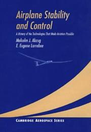 Airplane stability and control by Malcolm J. Abzug