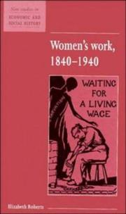 Cover of: Women's work 1840-1940
