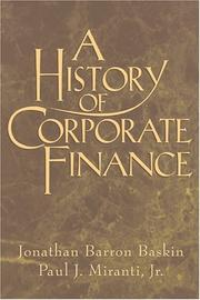 Cover of: A history of corporate finance
